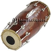 Naal Drum Bolt Tuned Pro Quality Shesham Wood Dholak Dhol Bhajan Kirtan Yogadark Brown