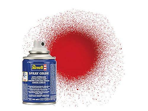 Revell 34131 Spraydose feuerrot, glänzend Spray Color, Farben in der praktischen 100-ml-Sprühdose