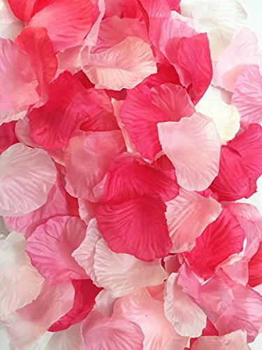 Ellami 1000pc Silk Rose Petals Wedding Flowers Favors
