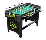 Dunlop Table Football Table–Terra In Printed MDF Wood Defender Soccer 8Cues and Balls 78x 61.2x 119cm