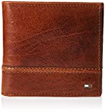 Tommy Hilfiger Men's RFID Blocking 100% Leather Passcase Wallet, tan Brevin, One Size