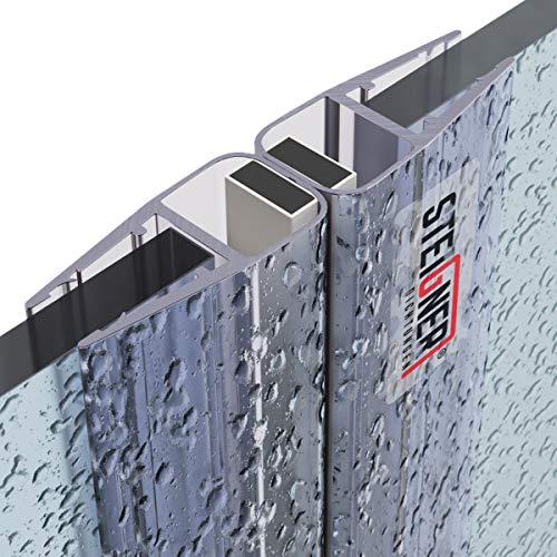 STEIGNER Magnetduschdichtung SET, 201cm, Glasstärke 3,5/4/ 5mm, Ersatzdichtung für 180 Grad Duschtür, UKM01, 2 Stück