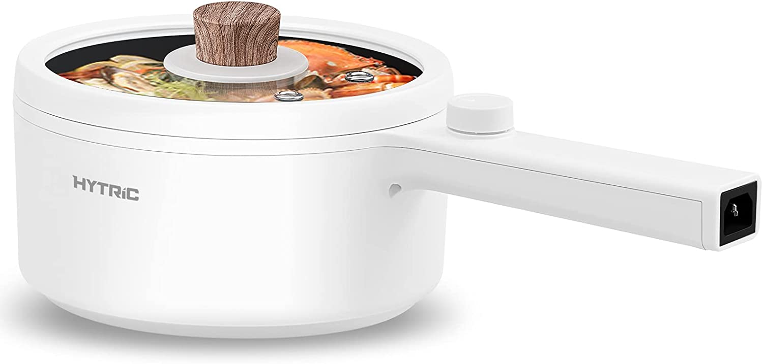 Hytric Electric Hot Pot Mail order 1.5L Indianapolis Mall Portable Nonstick Frying for S Pan