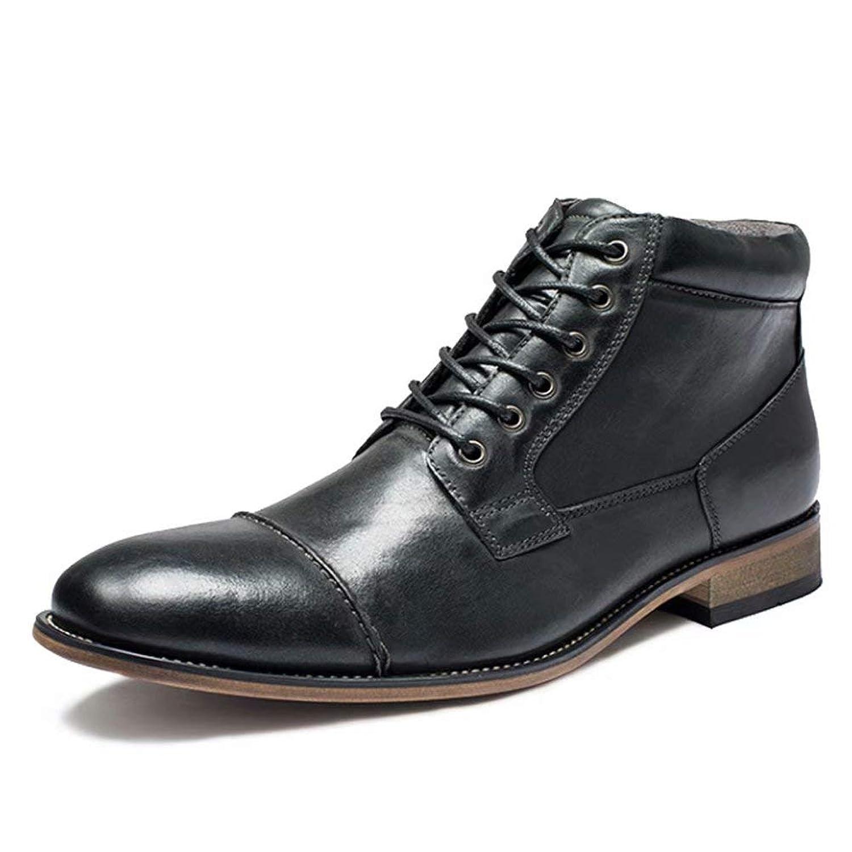 [aemax] 牛革 メンズ ブーツ カジュアルスタイル 魅力的 ファッション ハイカット マーチン 革靴 エンジニア ブーツ 通気性 防水性
