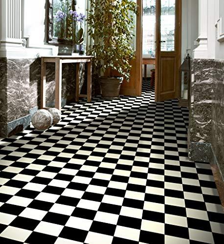 PVC Bodenbelag in schwarz- weißen Quadraten (9,95€/m²), Zuschnitt (2m breit, 1,5m lang)