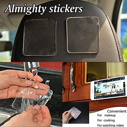 N\A Rubber Car Mat Set 60 * 75mm 5 Pcs Car Non-slip stickers,Car Magic Anti-Slip Pads, Sticky Pad Non-slip Holder ,For GPS Cell Phone Automobiles Interior Accessories (Color Name : 5PC)