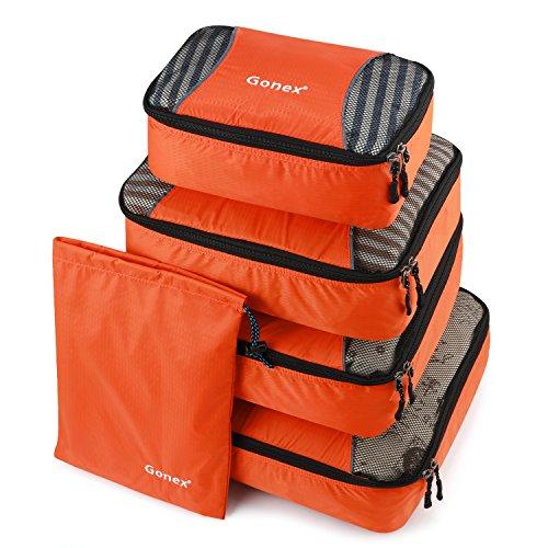 Gonex – 5 Packs Bolsas Organizadores de Equipaje/Viaje Bolsas de...
