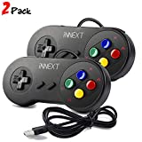 iNNEXT 2 x SNES USB Controller GamePad Joypad SNES Controller Joystick für Windows PC Mac Raspberry...