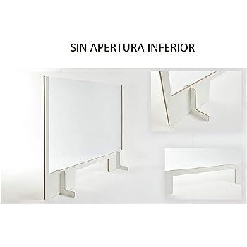 MAMPARA PROTECCION SEMIRIGIDA CON MARCO MEDIDA DE 700 x 650 MM SIN APERTURA INFERIOR: Amazon.es: Oficina y papelería