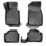 Rizline Alfombrillas de goma 3D para coche, compatibles con BMW Serie 1 (F20) a partir de 2011, con borde alto aprox. 5 cm