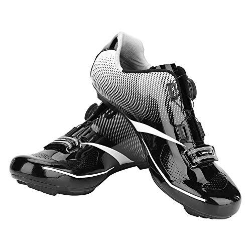 VGEBY1 Calzado para Bicicletas, Calzado con Sistema de Bloqueo Transpirable para Bicicletas de montaña y Carretera Accesorios para Ciclismo(43-Negro)