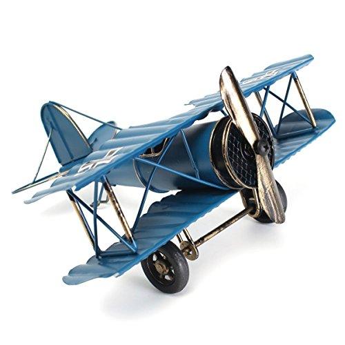 Grote 8.5 '' Retro vliegtuig vliegtuig model, Bar vliegtuig model, vintage vliegtuig model Home Decor Ornament vliegtuig speelgoed, Retro Wereldoorlog Duitse vleugels Model-WW2 vliegtuigen