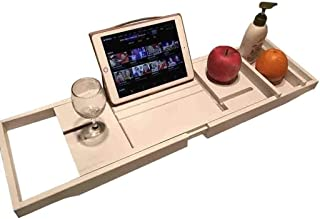 バスタブボードホワイトバスタブスタンドバスタブ伸縮ラックボード多機能バスタブテーブルバスタブブリッジバスルームトレイ