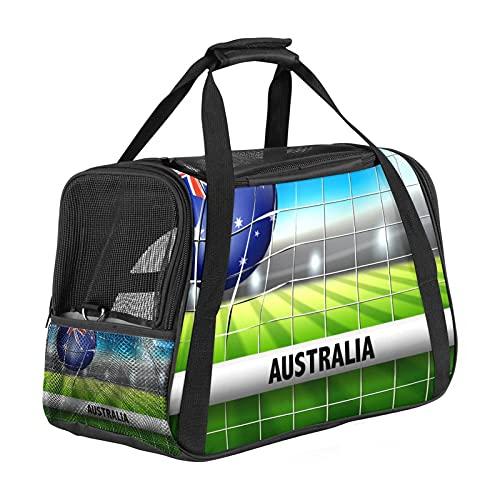 Australia Balón de fútbol en red para perros pequeños portador de gatos portadores de mascotas portátil Bolsa de viaje plegable bolsa de transporte para perros y gatos cremalleras de seguridad