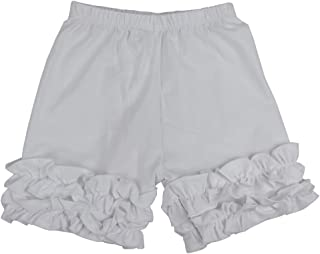 Wennikids Baby Little Girls Short Cotton Icing Ruffle Shorts