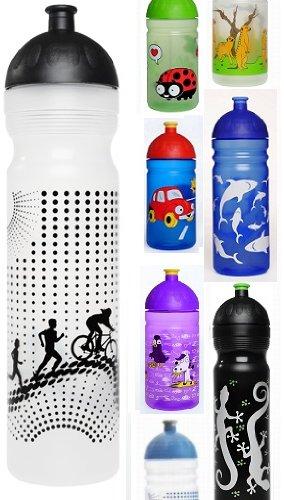 ISYbe Trinkflasche 1000ml Sport/Radler, transparent, schadstofffrei, spülmaschinengeeignet, auslaufsicher auch bei Sprudel