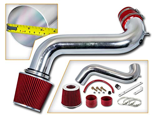 Rtunes Racing Short Ram Air Intake Kit + Filter Combo RED For 02-07 Dodge Ram 1500 2500 3500 3.7L V6 / 4.7L V8