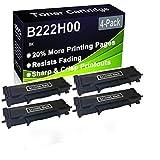 Paquete de 4 cartuchos de impresora compatibles con Lexmark B222H00 de alto rendimiento para impresoras Lexmark B2236DW, MB2236ADW, MB2236ADWE