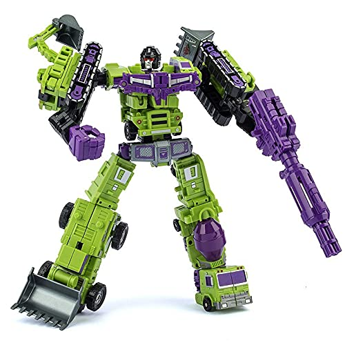 G1トランスフォーメーション玩具GTデバスター6in1アクションムービーフィギュアモデルABS27cm特大KO変形カーロボット (Green 91610)