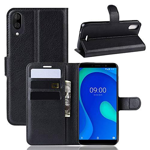 betterfon | Wiko Y80 Hülle Handy Tasche Handyhülle Etui Wallet Case Schutzhülle mit Magnetverschluss/Kartenfächer für Wiko Y80 Schwarz