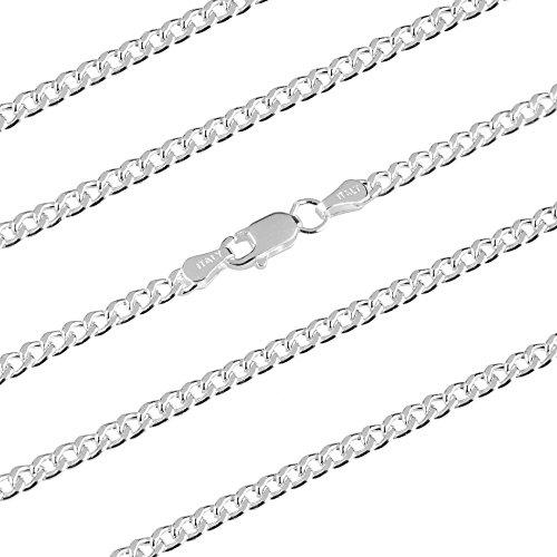 EMPATHY JEWELS Cadenas de Plata para Hombre en 5 tamaños - Collar Plata Hombre de 3mm de Grosor - Cadena de Plata para Hombre de fabricación Italiana - Cadenas Hombre Plata para Hacer un Regalo.