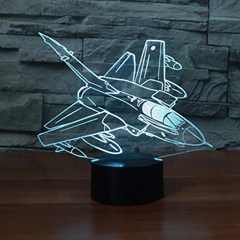 Zyue 3D Led Nachtlicht Flugzeug USB Schreibtisch Schlafen Beleuchtung Remote Touch 7 Farbwechsel Kind Geschenk,Blautooth Stereo