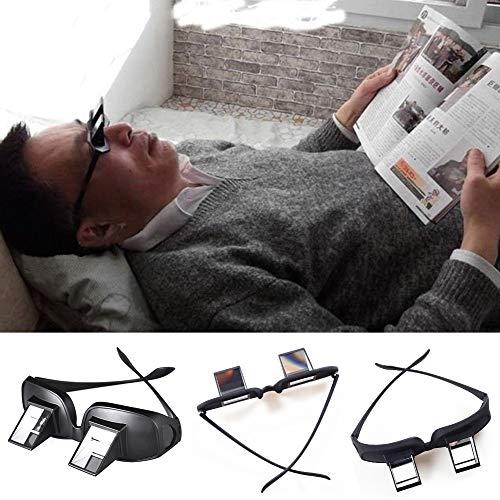 Horizontal Lazy TV Beobachten Beobachten von Periskopgläsern Brillen mit Prismengläsern