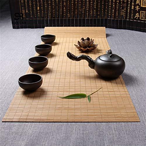 Eleganter Tischläufer Natürlicher Bambus Tischläufer Tischset Decken-Dekoration Home Cafe Restaurant Dekoration Geeignet für dekorative Desktop (Tamaño : 30x100cm)