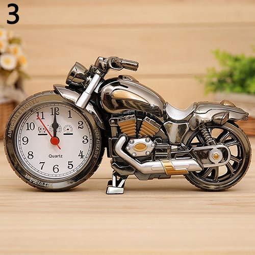 Ogquaton Kreative Motorrad Form Quarzuhr Wecker Time Keeper Desktop Dekorative Künstlerische Motorrad Tischuhr