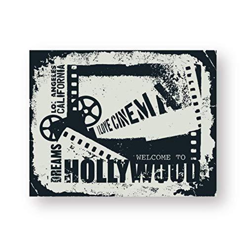 Mural Carteles De Carteles De Cine Vintage Impresiones De Arte De Pared De Cine Cuadros Retro Lienzo Pintura Hogar Cine Decoración De Cine-18X24In Sin Marco