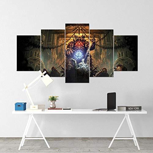 YFTNIPL Leinwand Kunstdruck Geschenk,5 Stücke Battlefleet Gothic Gaming Leinwand Bilder Malerei Modulare Design Wand Bild Home Wohnzimmer Büro Mordern Dekoration