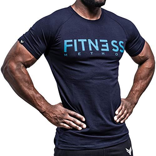 Fitness Method, Sport T-Shirt Herren, Slim-Fit Shirt bequem & hochwertig Männer, Rundhals & Tailliert, Training & Freizeit, Gym & Casual Workout Mann, 95{daa4bb0b1a5a7ab937869ee3c28076c79fdea71a0ed17fa30c7923656e36c80f} Baumwolle, 5{daa4bb0b1a5a7ab937869ee3c28076c79fdea71a0ed17fa30c7923656e36c80f} Elastan