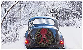 Ohio Wholesale Winter Classic Car Canvas Radiance Lighted Wall Art