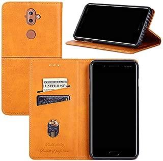 Nokia 8 Sirocco Case,Nokia 9 Case, YEEGG Flip Cover Leather, Phone Wallet Case for Nokia 8 Sirocco, Phone Wallet Case for Nokia 9 - (Brown)