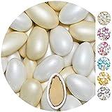 EinsSein 1kg Hochzeitsmandeln Conchiglia Mix weiss-creme pearl Mandeln Hochzeit Zuckermandeln Bonboniere Confetti Badem sekeri Gastgeschenk Zucker Mandeln Taufmandeln Candy Bar Süssigkeiten