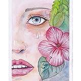 Handaxian Arte Abstracto de la Pared Pintura póster Pintura de la Lona Impresión para la Sala de Estar Decoración para el hogar en Lienzo-Retrato de Belleza(70x110cm) Sin Marco