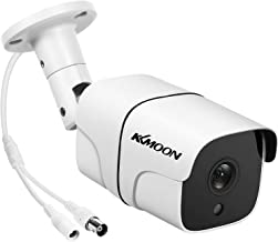 Queenser Full HD 1080 P Câmera de vigilância analógica 1080 P Câmera de segurança à prova de intempéries ao ar livre com v...