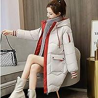 Down jacket Xllrbdの女性の小さな新鮮な中長のダウンジャケット (Color : White, Size : XXXL)