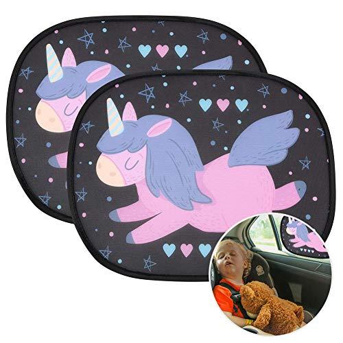 URAQT Parasole Auto Bambini, Oscuranti Finestrini Auto Per Bambini e Neonati, Tendine Sole Auto, Parabrezza auto per bambini Baby Pet raggi UV/Protezione solare, 2 Pezzi