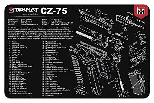 TekMat Reinigungsmatte mit Explosionszeichnung CZ-75-43x28cm