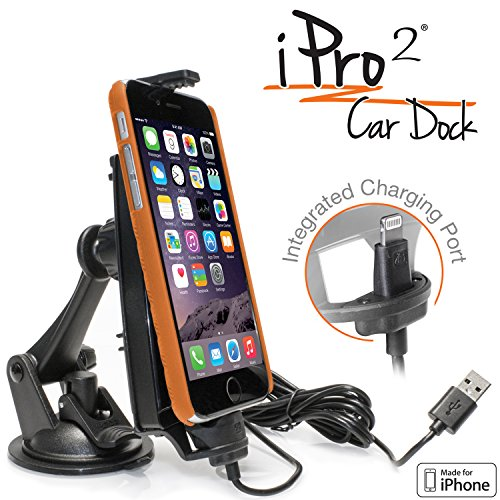 iPro2 MFI Approved Car Dock/Desk Dock/Mount/Holder/for iPhone Xs/XS MAX/X / 8/8 Plus / 7 with Integrated 2 Meter Lightning Connector