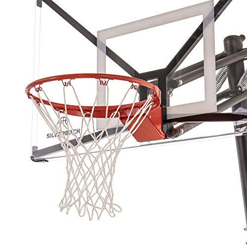 goaliath basketball hoops Silverback Deluxe Breakaway Rim with Nylon Net Compatible NXT and Goaliath GoTek In-Ground and Wall-Mounted Basketball Hoops