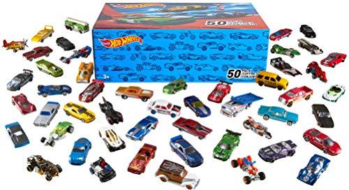 Hot Wheels Pack 50 Vehículos, coches de juguete (modelos surtidos) (Mattel V6697)