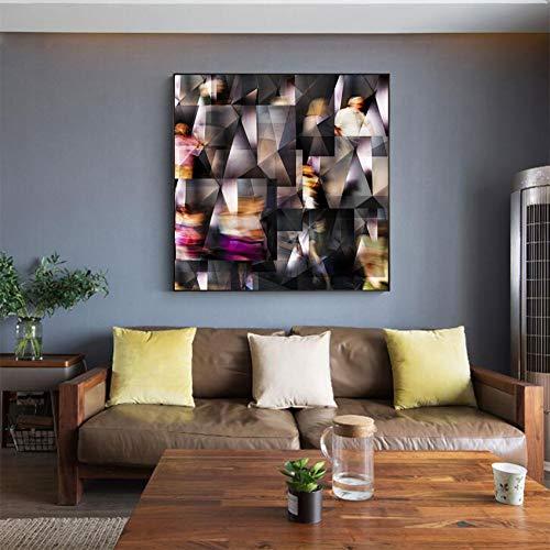 WHFLLDH Moderne wandkunst spiegel abstract decoratief canvas schilderij afdrukken en poster woonkamer afbeelding zonder lijst No Frame 20x20cm