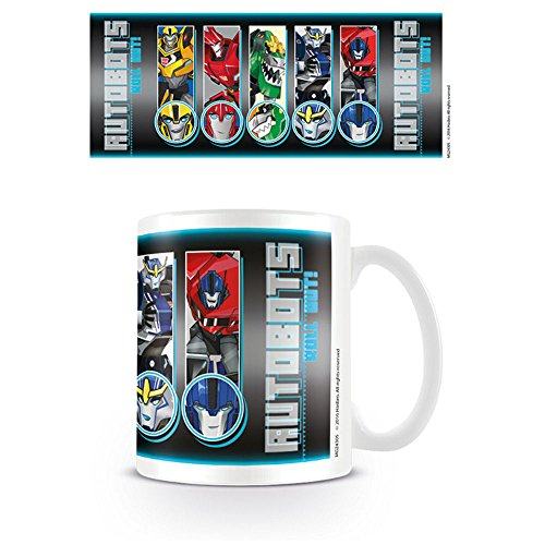 Transformers Robots in Disguise Roll Call out Taza de cerámica, Multicolor