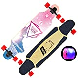 39 inch longboard drop through - Longboard Drop-Through 39 Inch Dancing Longboard Skateboard Cruiser, 85A high Elastic PU Flash Wheel, Load up to 300 Lbs for Cruising, Carving, Free-Style and Downhill
