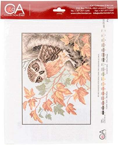 Rto Cdpa1010 Collection D'Art Stamped Cross Stitch Kit 28x34cm-Owl