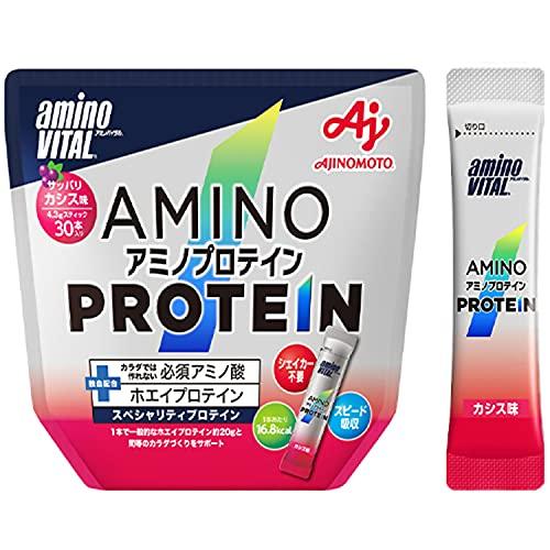 味の素 アミノバイタル アミノプロテイン カシス味 30本入パウチ