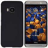 mumbi Hülle kompatibel mit HTC One M9 Handy Hard Hülle Handyhülle, schwarz
