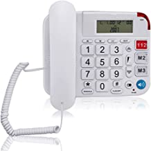 $39 » Large Button Home Landline Phone for Seniors, HePesTer P-42 Amplified Corded Phone with Caller ID Home Wired Phone for Eld...